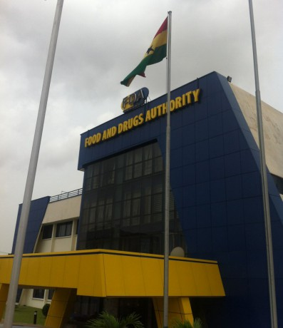 Headquarters of the Food and Drugs Authorithy of Ghana.}
