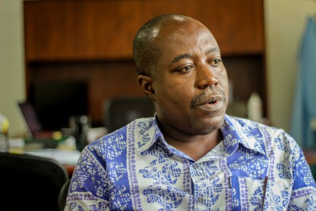 Kwasi Poku Boateng, director of Cepat, in his office}